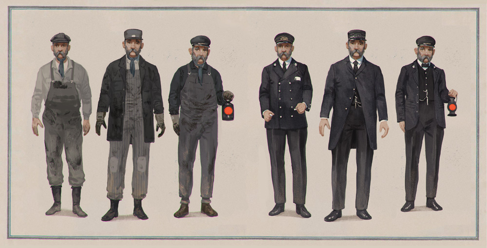 """LDR - The Tall Grass, """"The Conductor"""" character designs by Axis Studios"""
