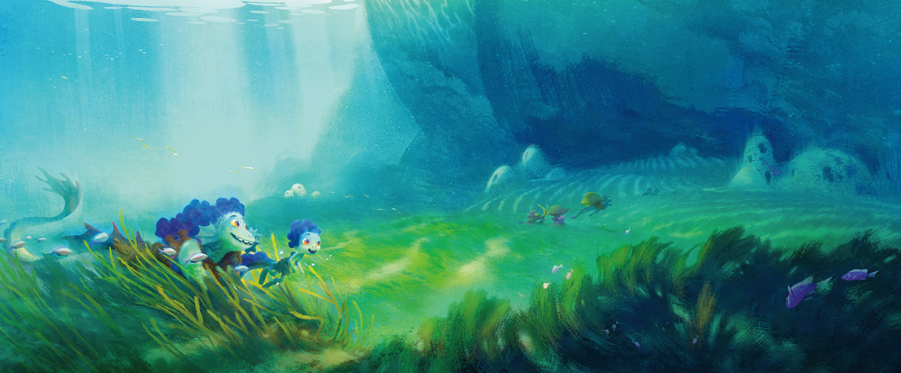 Luca visual development - monsters in the sea (Pixar)