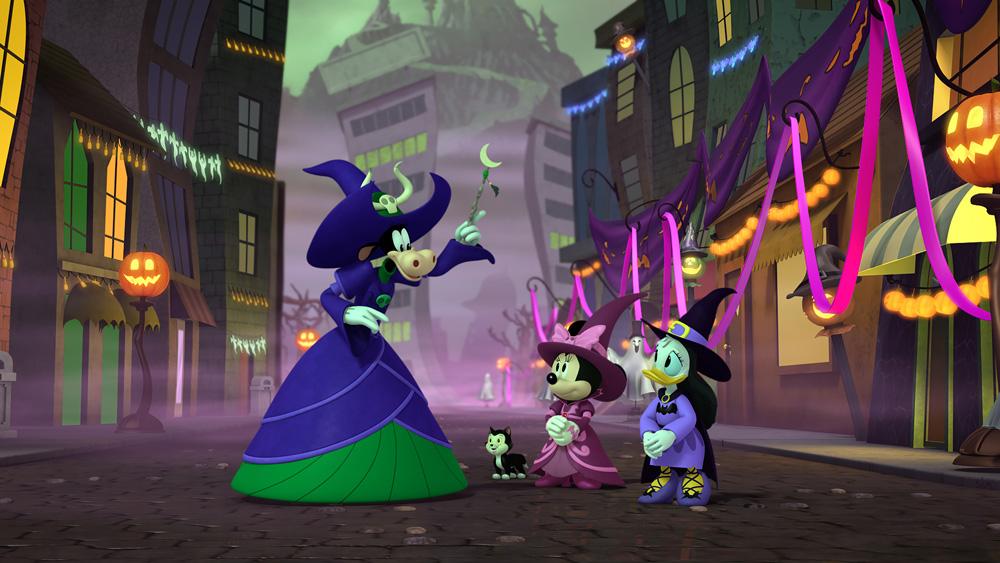 El cuento de Mickey de dos brujas