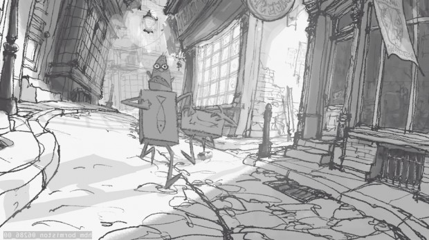 Attribution - Boxtrolls storyboard, Courtesy of LAIKA