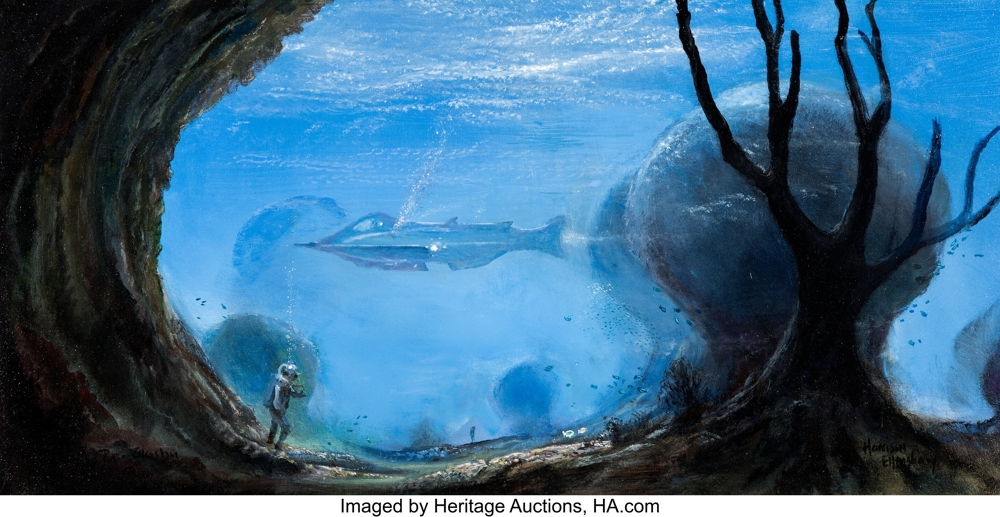 20,000 Leagues Under the Sea painting by Peter Ellenshaw