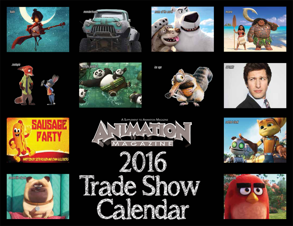 Animation Magazine - 2016 Trade Show Calendar