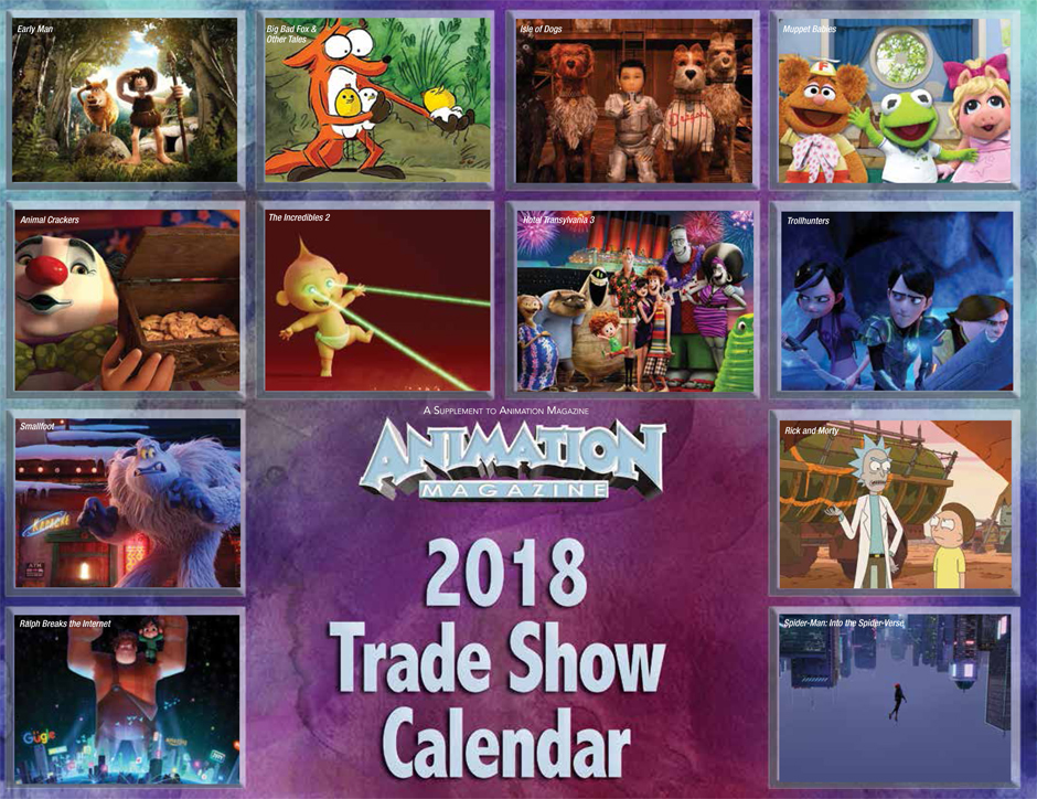Animation Magazine - 2018 Trade Show Calendar