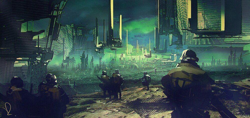 2150 - Earth concept by Marcin Rubinkowski