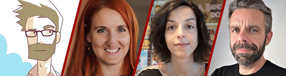 Jury 3D Wire Fest 2021, LR: Alexis Laffaille, Katarzyna Gromadzka, Andrea Basílio, José Luis Ucha