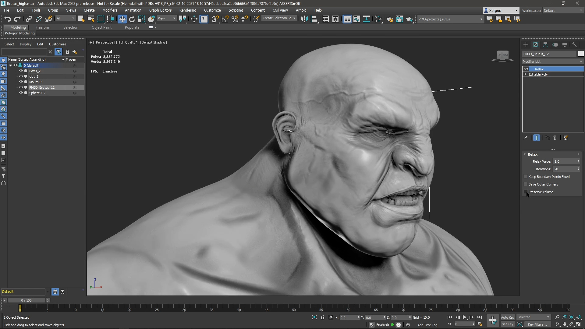 Autodesk 3ds Max 22 - Modeling Relax Modifier
