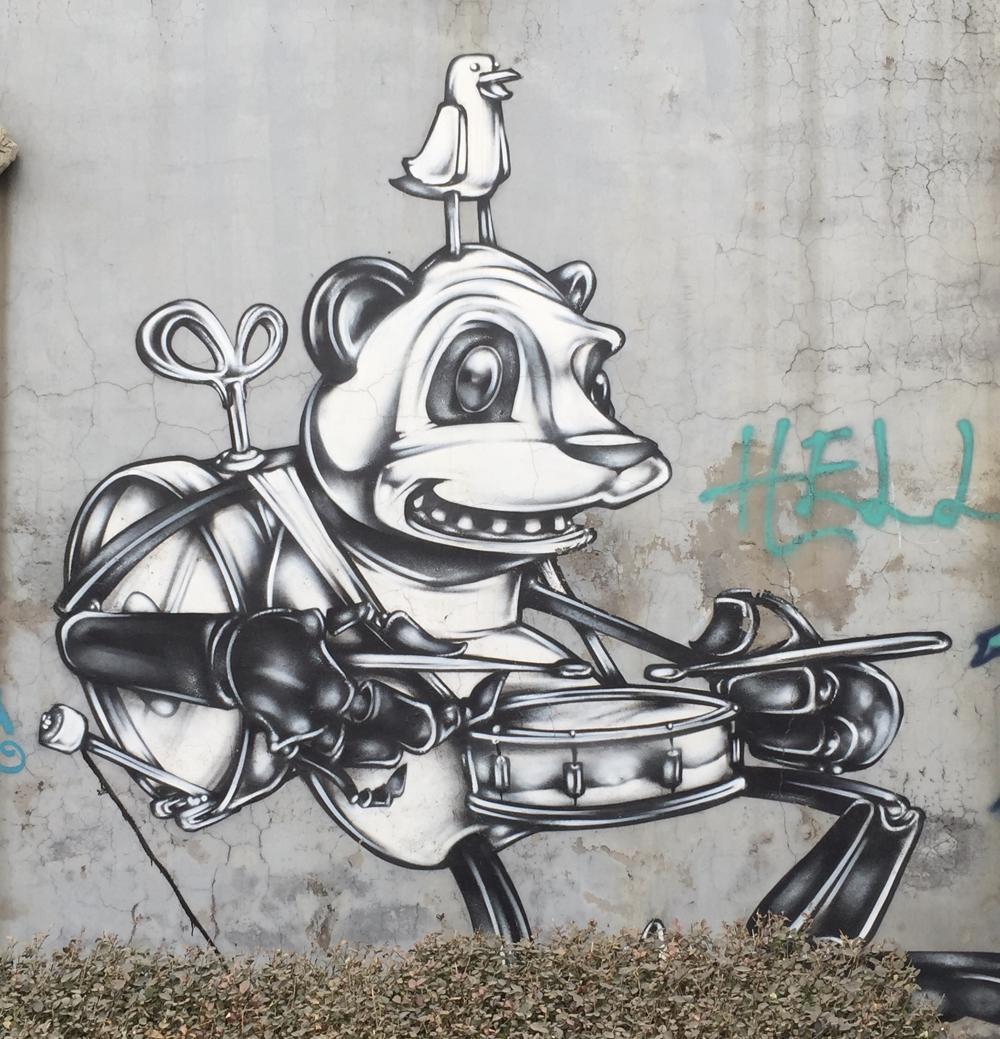 Graffiti art in Beijing's 798 Art Zone