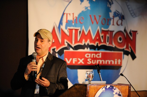 David Steinberg, the senior VP of animation production at Nickelodeon Studios, gives a keynote address to start the second day of the World Animation and VFX Summit.
