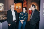 Aardman Co-founders Peter Lord and David Sproxton with ACMI Director & CEO Katrina Sedgwick