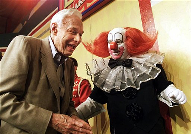 Alan Livingston with Bozo the Clown