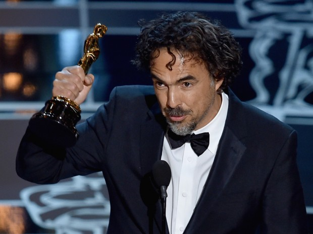 Alejandro G. Iñárritu accepting the Best Director Oscar for Birdman in 2015. (Photo: Getty Images)