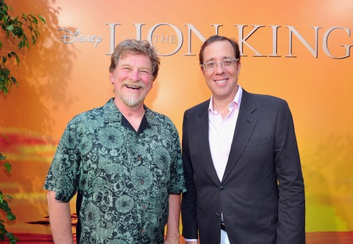 "HOLLYWOOD, CA - AUGUST 27:  Co-directors Roger Allers and Rob Minkoff arrive at ""The Lion King"" Los Angeles 3D Premiere at the El Capitan Theatre on August 27, 2011 in Hollywood, California.  (Photo by Alberto E. Rodriguez/WireImage)"