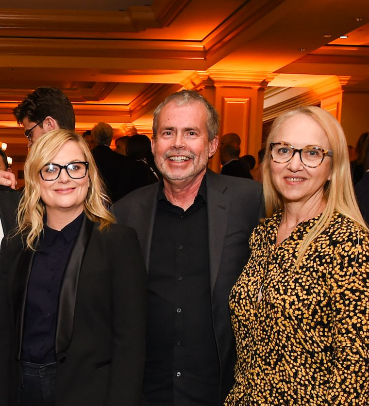 (L-R) Exec producers Amy Poehler, Mike Scully and Julie Scully