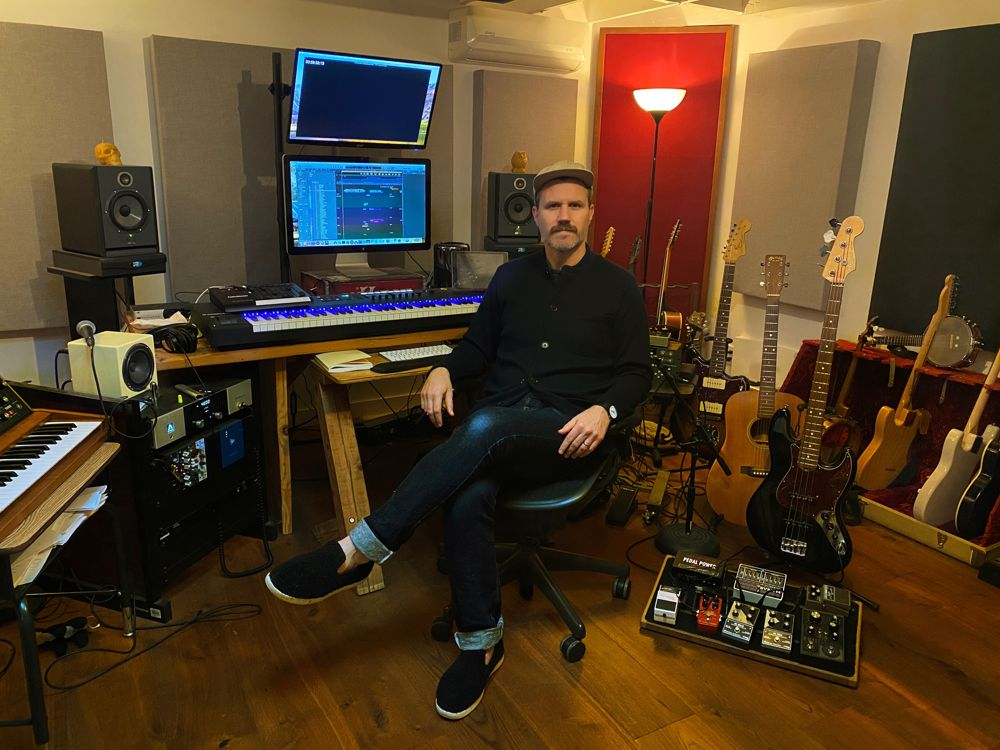 Andy Bean in his studio.