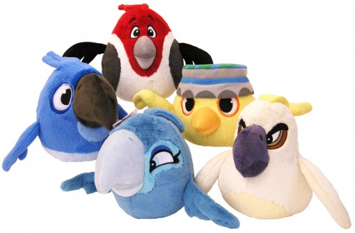 Angry Birds Rio plush line