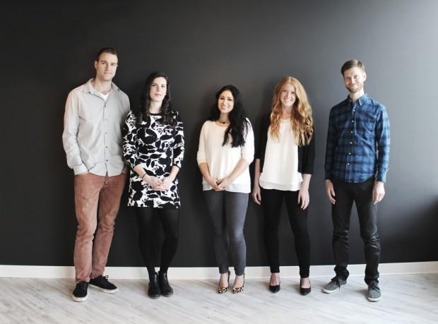 L-R: Dave Horst, Caitlin Mulqueen, Maria Hanafy, Megan Brescacin, Andrew Minett