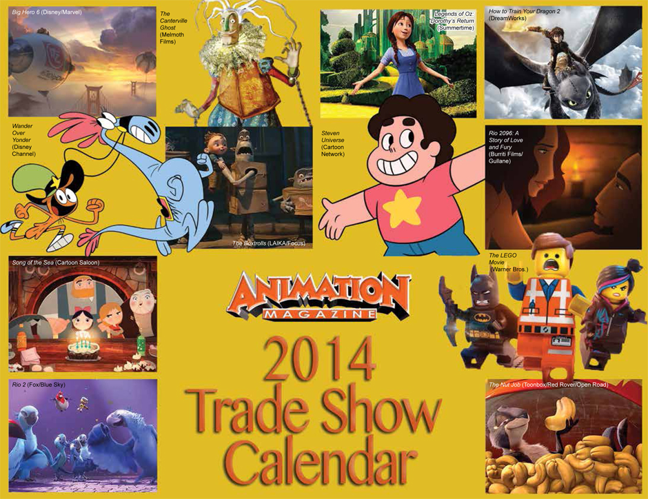 Animation Magazine - 2014 Trade Show Calendar