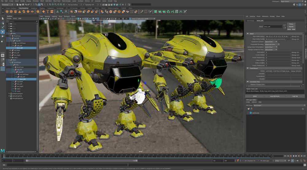 Autodesk Maya 22 - USD integration