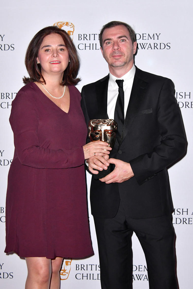 Turner Europe SVPs Patricia Hidalgo and Ian McDonough accepted the International Award for We Bare Bears.