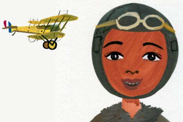 Bessie Coleman illustration