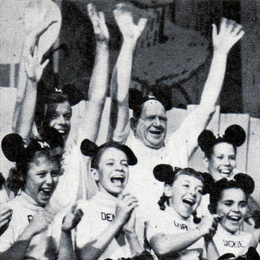 Roy Williams with the Mouseketeers