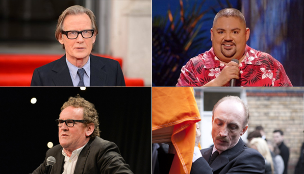 (top left) Bill Nighy, (top right) Gabriel Iglesias, (bottom left) Colm Meaney, (bottom right) Michael McElhatton