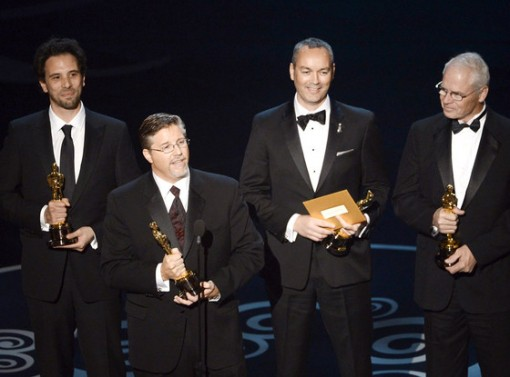 Bill Westenhofer accepts the Oscar for Achievement in Visual Effects.