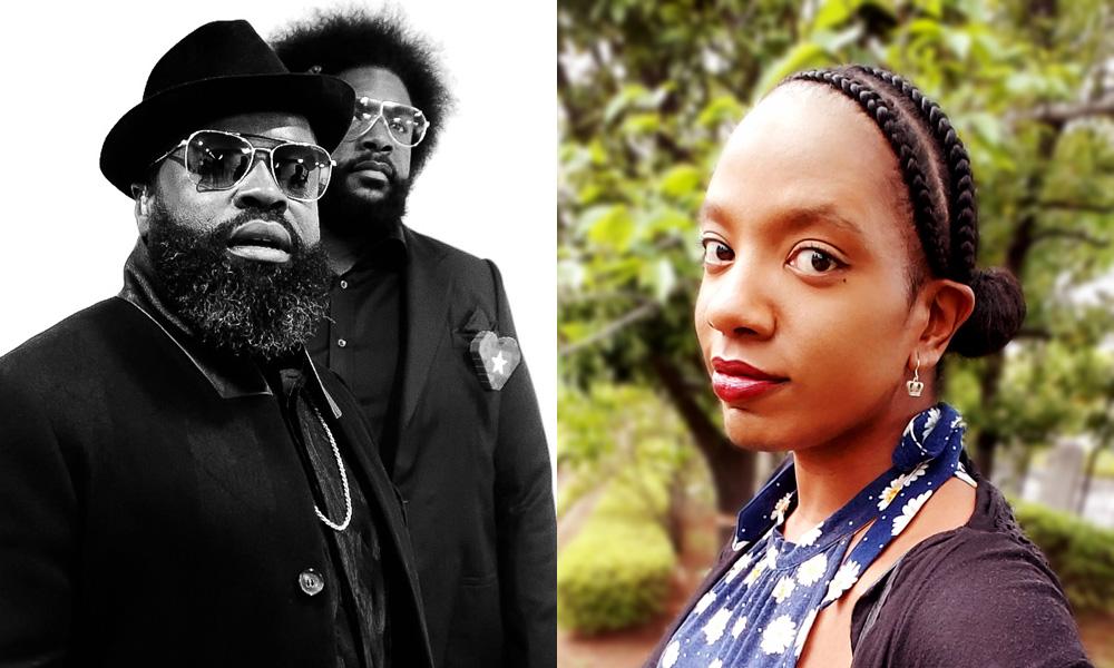 L: Black Thought and Questlove [Photo: @iamsuede]. R: Latoya Raveneau [Photo: Megan Raveneau]
