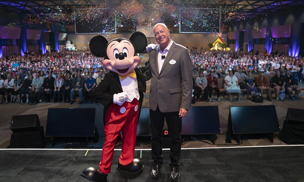 Bob Chapek and Mickey Mouse