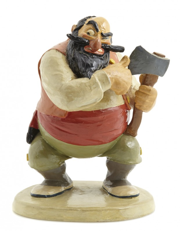 "A Walt Disney Studios maquette from ""Pinocchio"" 1940, plaster with hand-painted details, stamped on rear of base WDP Height 8 3/4in Est. $5,000-6,000"