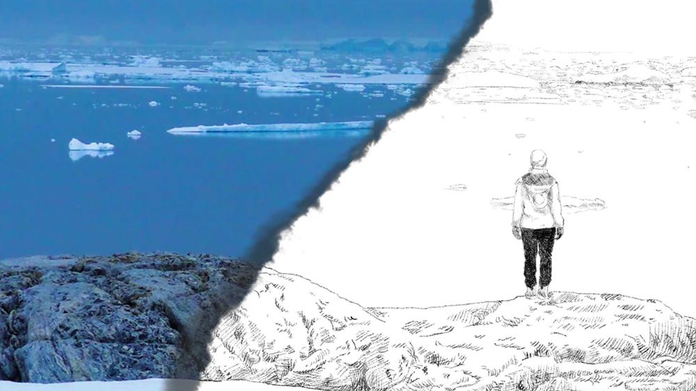Vast Blue Antarctica