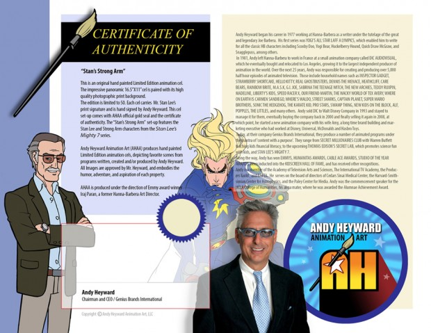 Stan Lee's Mighty 7 COA