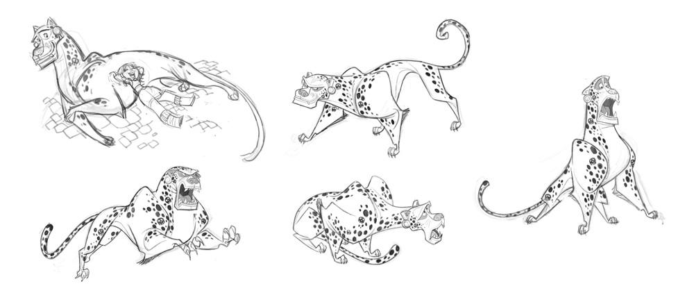 """Chiapa"" pose sheet by character designer Carlos Luzzi."