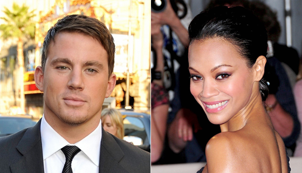 (from left) Channing Tatum and Zoe Saldana