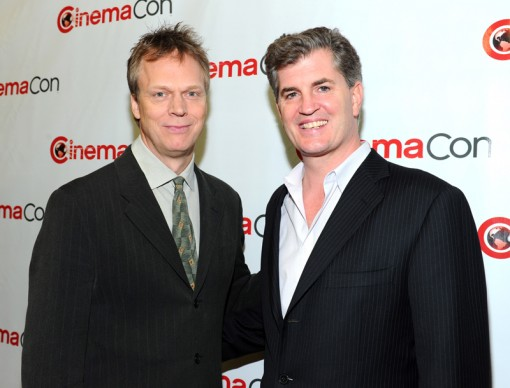 (L-R) Director Peter Hedges and Producer Jim Whitaker attends the Walt Disney Studios 2012 Presentation Highlights at CinemaCon on April 24, 2012 in Las Vegas, Nevada. (Photo by Alberto E. Rodriguez/WireImage)
