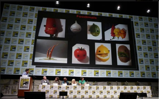 Image from the Cloudy 2 panel at Comic-Con