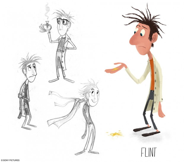Cloudy with a Chance of Meatballs character art by Pete Oswald (c) Sony Pictures Animation
