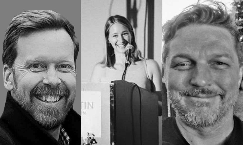 L-R Craig Wentworth, Patricia Binga and Adam Harrison