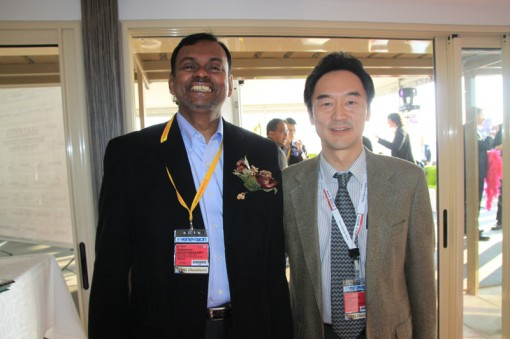 (Left to Right) N. Balaraman, Director of Planning & Research of FINAS; Kazumasa Iida, Head of CoProductions & Acquisition of NHK Enterprises