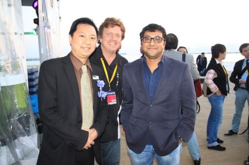 (Left to Right) Adam Ham, Executive Director of GCMA; Daniel Hawes, CEO of March Entertainment; Jyotirmoy Saha, CEO of August Media Holdings