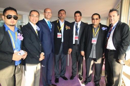 (Left to Right) Syazli Muhd Khiar, Assistant Director of Marketing & Promotion of FINAS; Low Huoi Seong, Managing Director of Vision Animation; David Ellender, Global CEO of FremantleMedia Enterprises; N. Balaraman, Director of Planning & Research of FINAS; Ganesh Rajaram, Vice President of FremantleMedia Enterprises; Farid K. Ahmad, Executive Director of Worldwide Rights Corporation; Paul Ridley, EVP International of FremantleMedia Enterprises