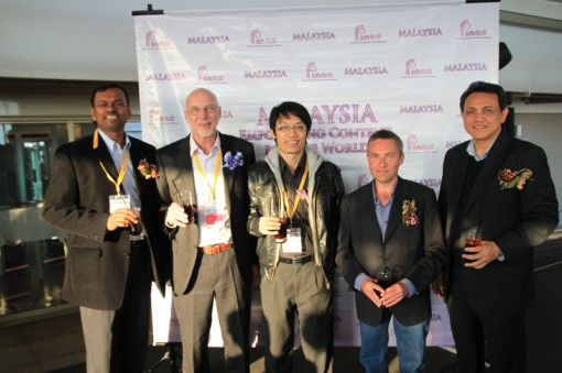 (Left to Right) N. Balaraman, Director of Planning & Research of FINAS; Michael Lake, CEO of Pinewood Iskandar Malaysia Studios; Desmond Ngai, Manager of MDeC; Mark Rowland, Chairman of C21 Media; Dato' Mahyidin Mustakim, CEO of Creative Content Association of Malaysia