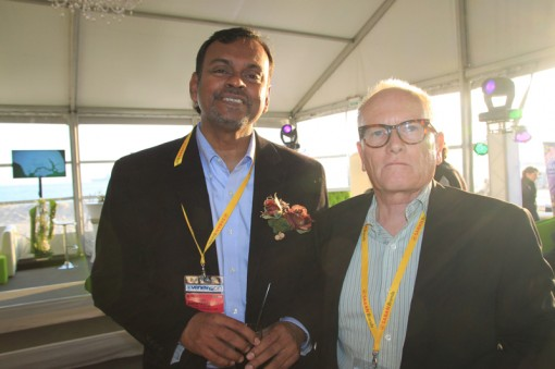 (Left to Right) N. Balaraman, Director of Planning & Research of FINAS; Chris Oliver, Senior Manager – State & Industry Partnerships of Screen Australia
