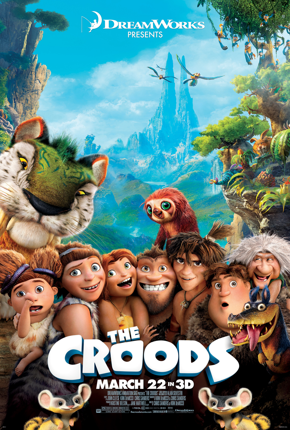 New 'Croods' Posters Reveal Cool Critters