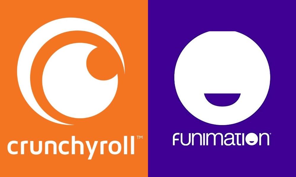 Crunchyroll and Funimation logos