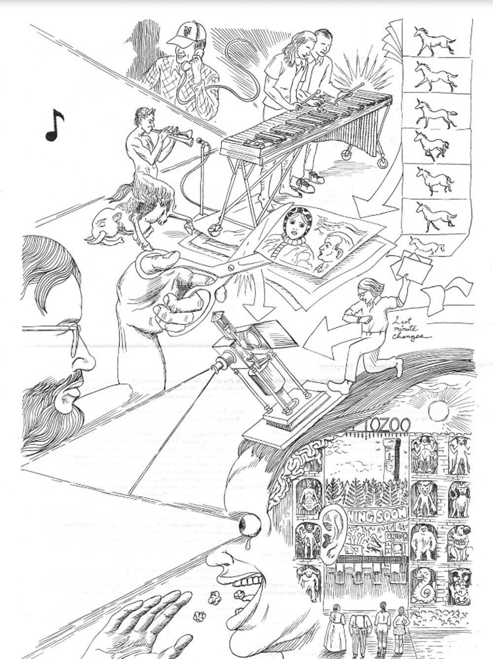 The making of Cryptozoo, illustration (Dash Shaw & Jane Samborski)