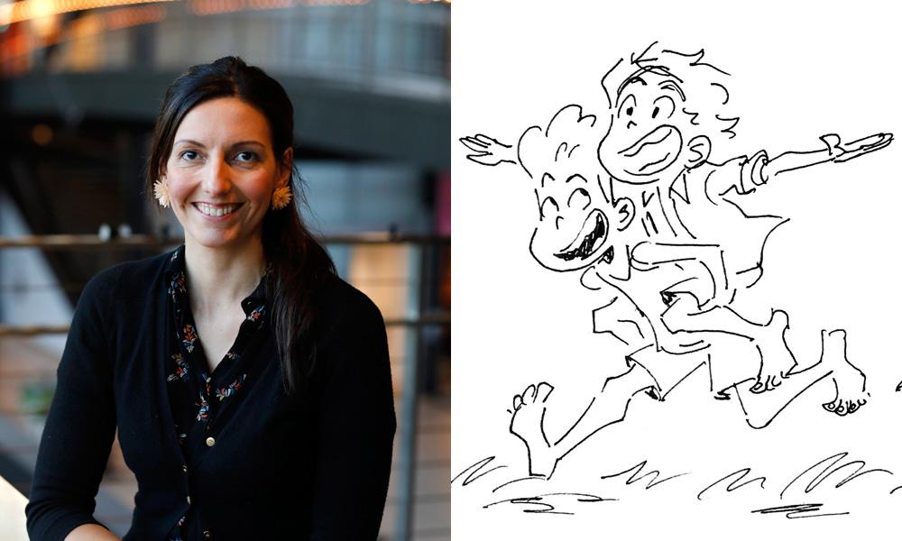 Daniela Strijileva | Character sketch of Alberto and Luca by McKenna Harris (Pixar)