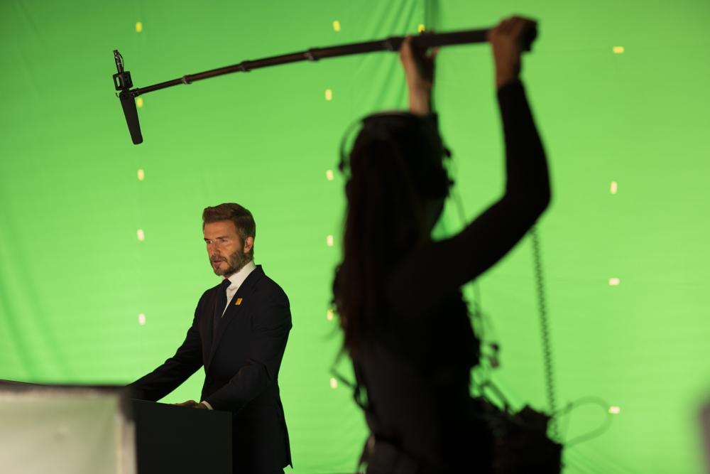 David Beckham on set (courtesy Digital Domain)