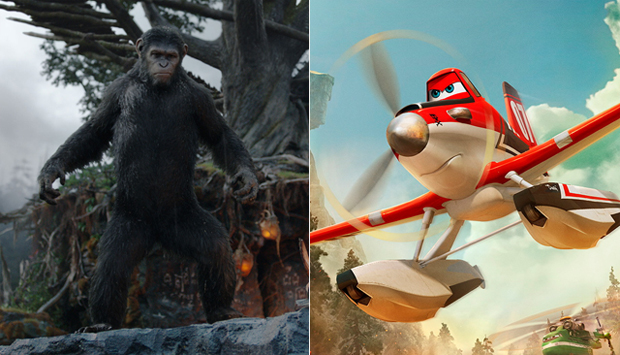 Dawn of the Planet of the Apes / Planes: Fire & Rescue