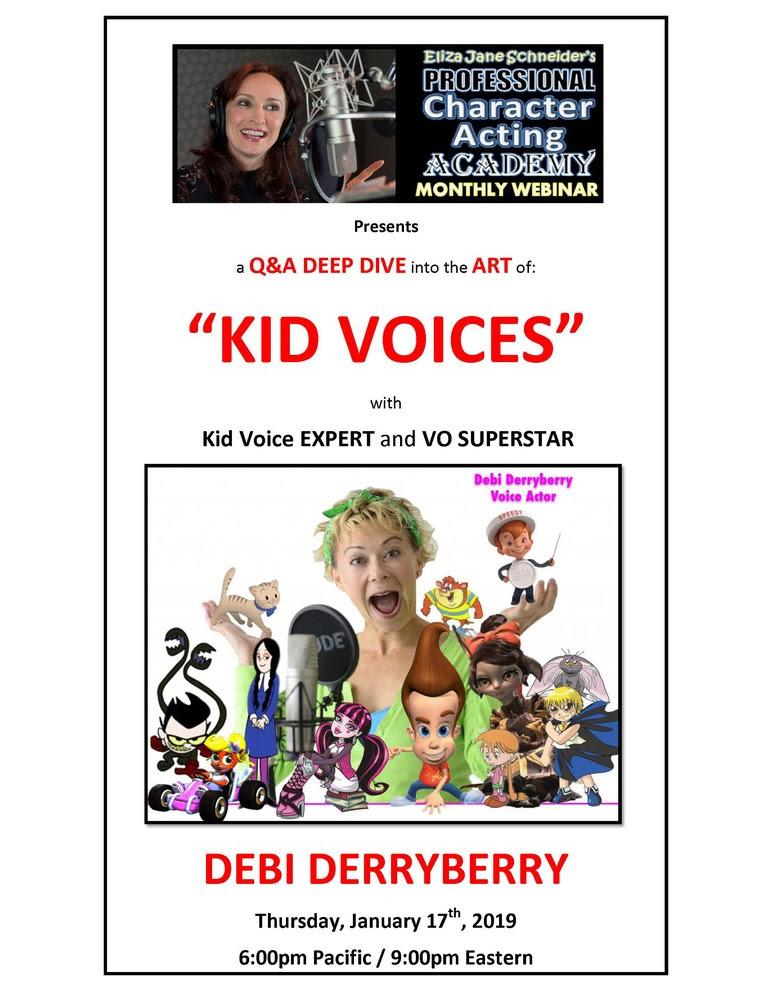 """""""Kids Voices"""" with Debi Derryberry"""